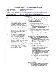 Course Correlation - York County Schools