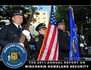 2011 Annual Report on Wisconsin Homeland Security