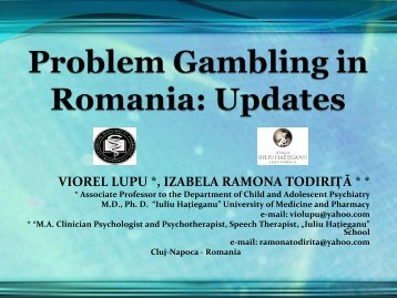 viorel lupu *, izabela ramona todiriţă - European Association for the ...