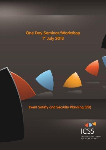 One Day Seminar/Workshop 1st July 2013 - International Centre for ...