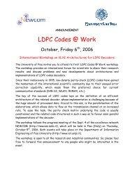 Multi-Gb/s LDPC Code Design and     - 123SeminarsOnly
