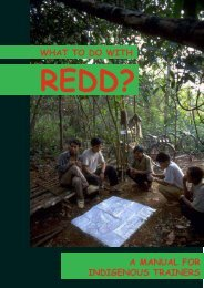 What to do with REDD: A Manual for Indigenous Trainers
