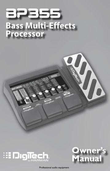 BP355 Owner's Manual-English - Digitech