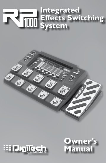rp55 owner s manual english digitech rh yumpu com Digitech Effects Pedals Demos Rp 10 Digitech Power Supply