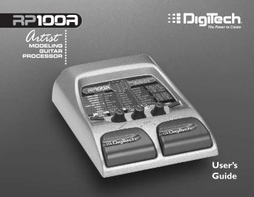 RP100A Owner's Manual-English - Digitech