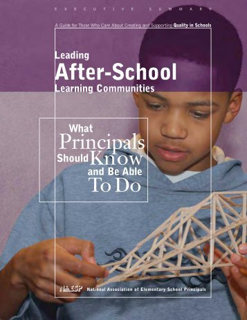 Leading After-School Learning Communities - Utah Afterschool ...