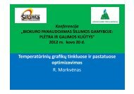 Temperatūrinių grafikų tinkluose ir pastatuose optimizavimas R ...