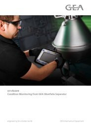 Condition Monitoring from GEA Westfalia Separator (wewatch®)