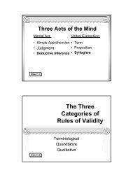 Traditional Logic I Chapter XI - Memoria Press