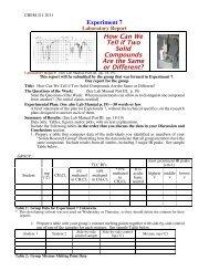 Lab Report Format Sheet