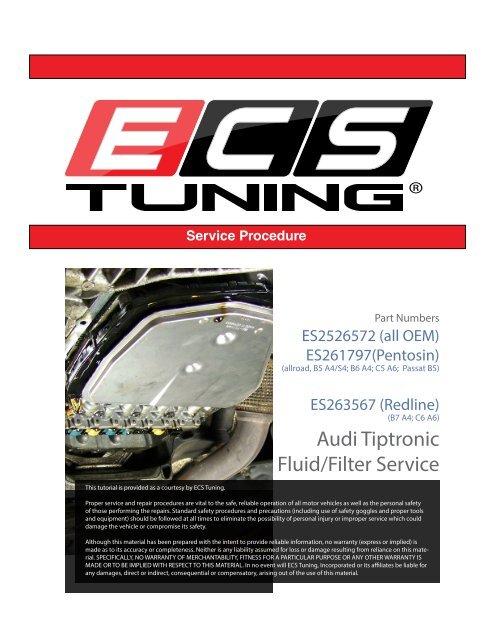 Audi Tiptronic Fluid/Filter Service