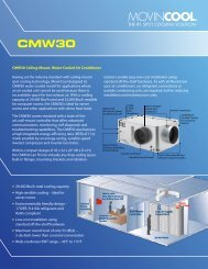 CMW30 Ceiling-Mount, Water-Cooled Air Conditioner ... - LSKair