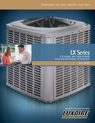 Luxaire LX Series 14.5 SEER Air Conditioners from Luxaire ... - LSKair