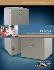 LX Series Air Handlers from Luxaire Heating and Air ... - LSKair