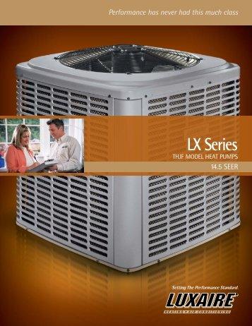 Luxaire LX Series 14.5+ SEER Heat Pumps from Luxaire ... - LSKair