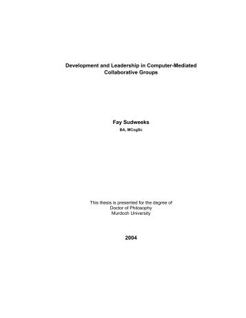 Development and Leadership in Computer-Mediated Collaborative ...