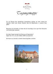 Tagungsmappe - Burghotel Bad Belzig