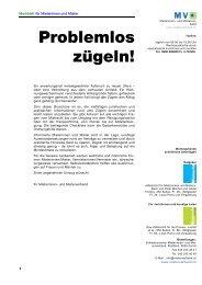Merkblatt Für Mieterinnen Und Mieter Problemlos ... - Mieterverband