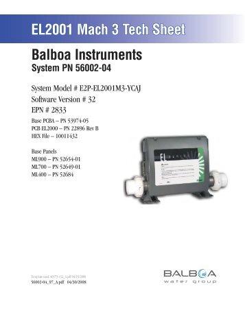 56002-04, E2P-EL2001M3-YCAJ - Balboa Direct