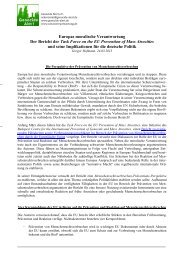 European Task Force on the Prevention of Genocide and Mass ...