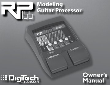 RP155 Owner's Manual-English - Digitech
