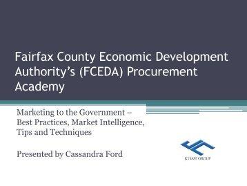 Presented - Fairfax County Economic Development Authority