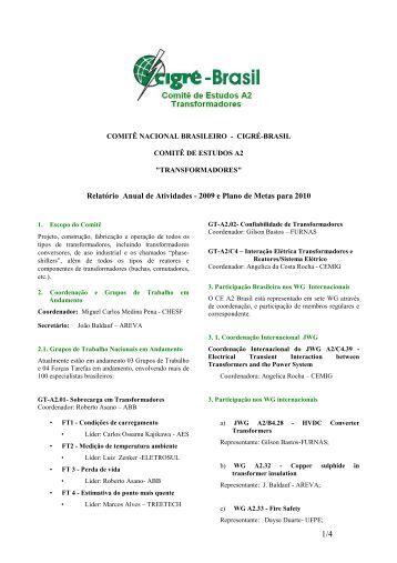 ce-a2-rt_de_atividades_ 2009_ e_ plano ação_2010 - Cigré-Brasil
