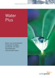 Factsheet Water Plus - Swisspower