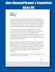 Blue Diamond Grower s Foundation Kicks Off