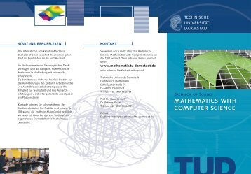 mathematics with computer science - Fachbereich Mathematik ...