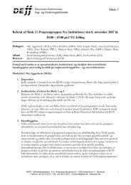 Referat af møde 3 i NI - DEFF