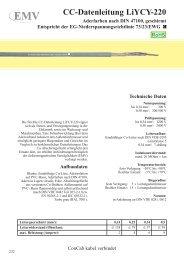 CC-Datenleitung LiYCY-220 - ConCab kabel gmbh