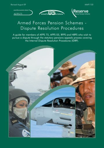 Dispute Resolution Procedures - Ministry of Defence