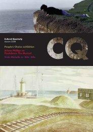 CQ Autumn 08 AW - Cultural Quarterly Online