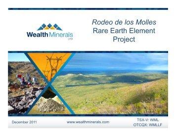 Rodeo de los Molles Rare Earth Element Project - Wealth Minerals ...