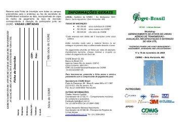 Folder Workshop CE B2-GT B2 -11 e B2 -06_2 - Cigré-Brasil