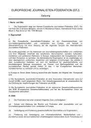 EUROPEAN FEDERATION OF JOURNALISTS (EFJ)