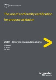 The use of conformity certification for product ... - Schneider Electric
