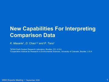 New Capabilities For Interpreting Comparison Data