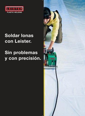 Soldar lonas con Leister. Sin problemas y con ... - Serviprinter.es