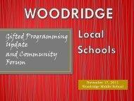 PROJECT EXCEL - Woodridge Local Schools
