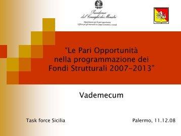 """""""Le Pari Opportunità nella programmazione dei Fondi Strutturali ..."""