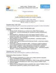 Program konference a představení Institutu umění - IDU