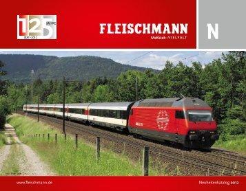 www.fleischmann.de Neuheitenkatalog 2012 - Modellbahnstation