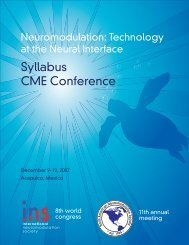 CME Syllabus - Part 1 - International Neuromodulation Society