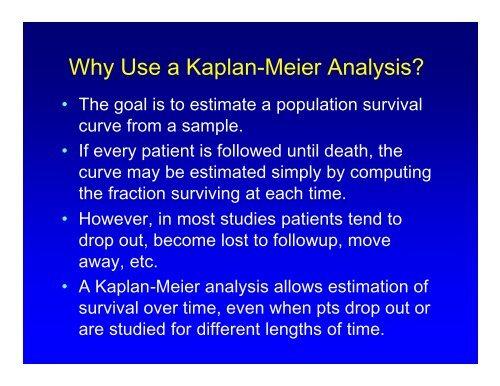 Why Use a Kaplan-Meier Analysis?