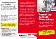 Die Linke und die neuen Wohnungsfragen - Die Linke NRW