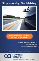 California's Low Cost Automobile Insurance ... - Consumer Action