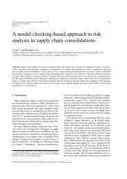 A model-checking-based approach to risk analysis in supply chain ...