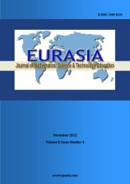 to Download Complete Issue - Eurasia Journal of Mathematics ...